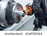 cutting tool at metal working... | Shutterstock . vector #616950263