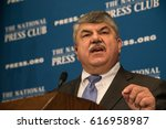 Small photo of WASHINGTON, DC - April 4, 2017: AFL-CIO President Richard Trumka speaks to a luncheon at the National Press Club