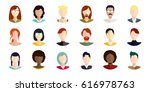 vector icons with women of... | Shutterstock .eps vector #616978763