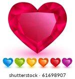 Heart Shaped Gemstones Set