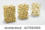 bone structure 3d illustration  ... | Shutterstock . vector #617032403