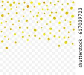 golden confetti falling on... | Shutterstock .eps vector #617039723