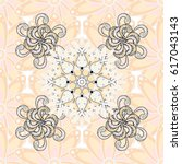 intricate colored arabesque... | Shutterstock .eps vector #617043143