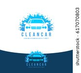 car wash logo   clean car vector | Shutterstock .eps vector #617070803