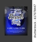 summer party flyer | Shutterstock .eps vector #617078447
