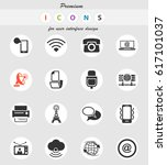 communication vector icons for... | Shutterstock .eps vector #617101037
