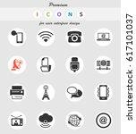 communication vector icons for... | Shutterstock .eps vector #617101037