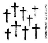 christian religious symbol... | Shutterstock .eps vector #617118893