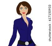 beautiful superwoman in a pride ... | Shutterstock .eps vector #617150933