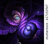 dark fractal flower  digital... | Shutterstock . vector #617152967