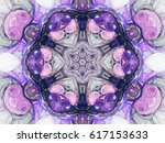 purple seamless fractal mandala ... | Shutterstock . vector #617153633
