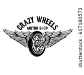 crazy wheels. motorcycle wheel... | Shutterstock . vector #617180573