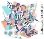abstract floral elements paper... | Shutterstock .eps vector #617203697