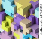 3d render  abstract geometric... | Shutterstock . vector #617240033
