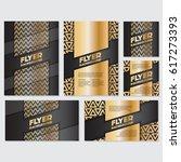 gold banner background flyer... | Shutterstock .eps vector #617273393