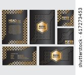 gold banner background flyer... | Shutterstock .eps vector #617273453