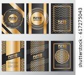 gold banner background flyer... | Shutterstock .eps vector #617275043