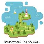 island isolated vector flat... | Shutterstock .eps vector #617279633