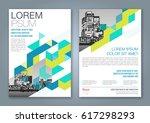 abstract minimal geometric... | Shutterstock .eps vector #617298293