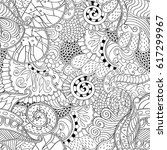 tracery seamless pattern.... | Shutterstock .eps vector #617299967