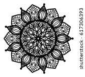 mandalas for coloring book.... | Shutterstock .eps vector #617306393