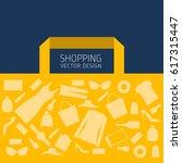 shopping  shopping cart  vector ... | Shutterstock .eps vector #617315447