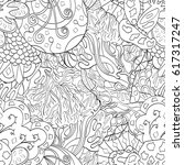 tracery seamless pattern.... | Shutterstock .eps vector #617317247