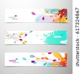 set of abstract colorful