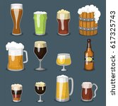alcohol beer vector... | Shutterstock .eps vector #617325743