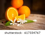 Orange And Orange Blossom On...