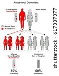 autosomal dominant hereditary... | Shutterstock . vector #617337377