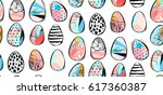 hand drawn vector abstract... | Shutterstock .eps vector #617360387
