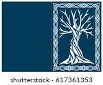 laser cut invitation template.... | Shutterstock .eps vector #617361353