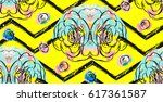 hand drawn vector abstract... | Shutterstock .eps vector #617361587