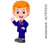 cute businessman cartoon | Shutterstock .eps vector #617372213