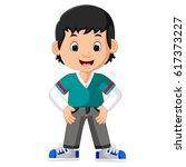cute boy cartoon   Shutterstock .eps vector #617373227