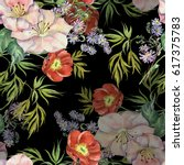 bouquet flowers spring...   Shutterstock . vector #617375783