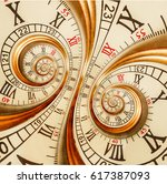 antique old clock abstract... | Shutterstock . vector #617387093