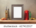 travel and tourism concept with ... | Shutterstock . vector #617412317