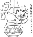 coloring page outline of... | Shutterstock .eps vector #617463263