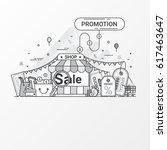 promotion discount concept.... | Shutterstock .eps vector #617463647
