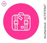 suitcase travel line vector icon | Shutterstock .eps vector #617474567