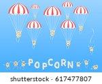 air popcorn. cartoon happy cute ... | Shutterstock .eps vector #617477807