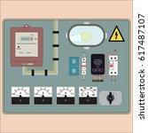 picture of the electrical panel ... | Shutterstock . vector #617487107