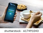 online reviews evaluation time... | Shutterstock . vector #617491043