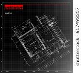 architecture grid blueprint... | Shutterstock .eps vector #617493257