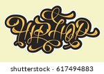hip hop golden artistic custom... | Shutterstock .eps vector #617494883