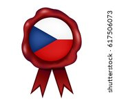 czech republic wax seal | Shutterstock .eps vector #617506073