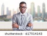 portrait of young black...   Shutterstock . vector #617514143