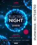 electro night party poster... | Shutterstock .eps vector #617518703
